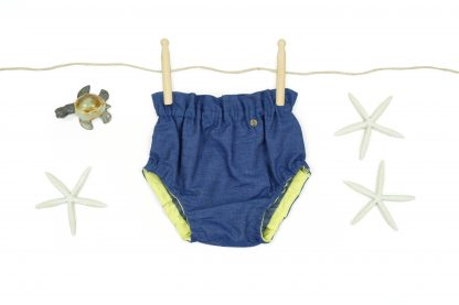 Exposición de Culotte, color azul, modelo Denim