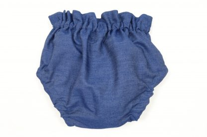 Vista Trasera de culotte Denim, color azul oscuro.