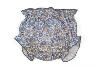 Vista frontal culotte liberty tonos azul.