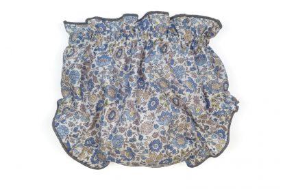 Vista trasera culotte liberty en tonos azul.