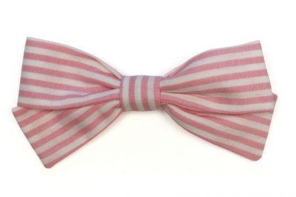 Lazo pelo vichy rayas rosa
