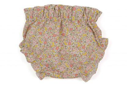 vista trasera culotte flores amarillo y rosa
