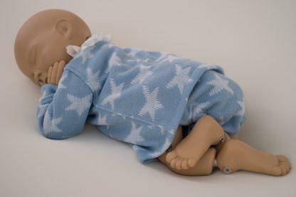 Conjunto estrellas lana azul - pose 4