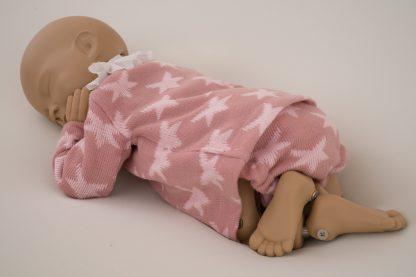 Conjunto estrellas lana rosa - pose 1