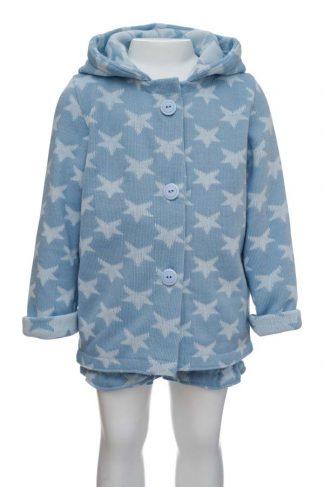 Chaqueta estrellas lana azul 2 en maniquí 3 años