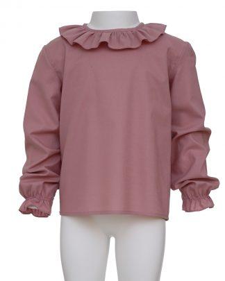 kids-camisa orgánico rosa frontal