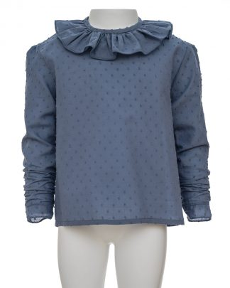 kids-camisa plumeti azul indigo frontal