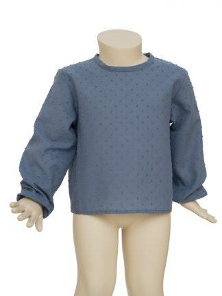Baby - Camisa azul jean plumeti