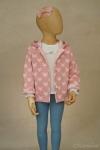 Exposición chaqueta estrellas rosa - maniquí 4 años