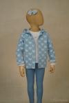 Exposición chaqueta estrellas azul - maniquí 4 años
