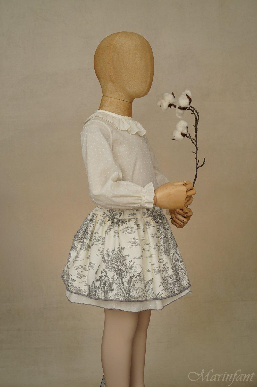 Exposición culotte falda Toile Lateral - maniquí 4 años