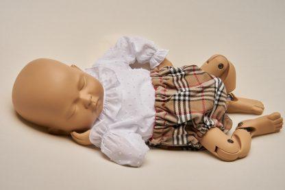 Culotte recien nacido cuadro tartan