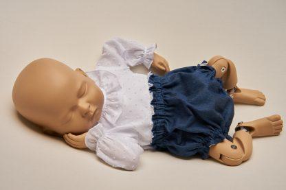 Culotte recién nacido denim