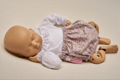 Culotte recien nacido Peonias
