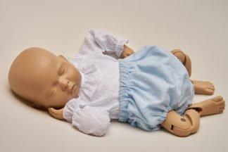 Culotte recien nacido plumeti azul