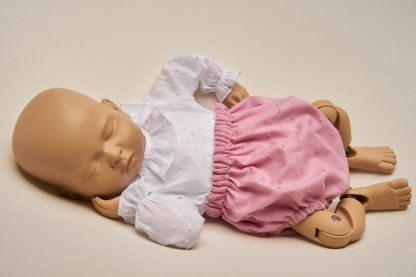 Culotte recién nacido plumeti rosa.