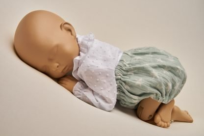 Culotte recién nacido verde menta
